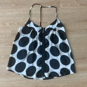 Urban Behavior Black and White Polkadot Tank XS
